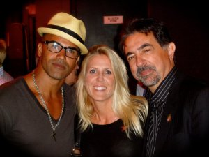 Wendi with Criminal Minds Shermar Moore and Joe Mantegna