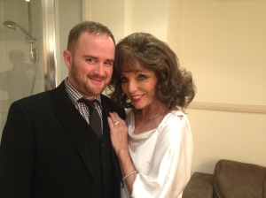 Alyn Waterman with Joan Collins
