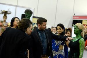 Paul Merchant judging the Warpaint Competition at London 2013
