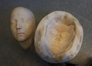 Sophie face cast and mould ready for use