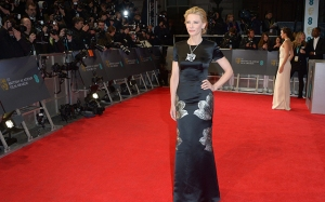 Cate Blanchett poses for photographers on the red carpet