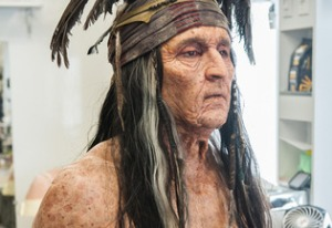 Johnny Depp as an aged Tonto