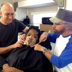Oprah gets fitted with prosthetic skin