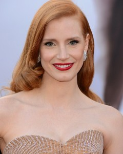 Jessica Chastain's make up by Kristofer
